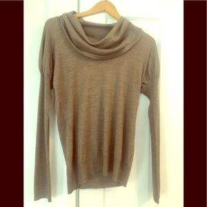 Oatmeal cowl neck sweater-new with tags. Limited